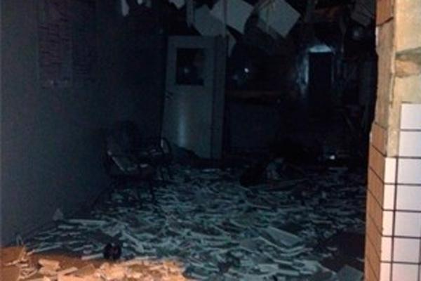 Agência do Bradesco de Serrinha, na região Agreste do RN, ficou completamente destruída após a ação dos criminosos