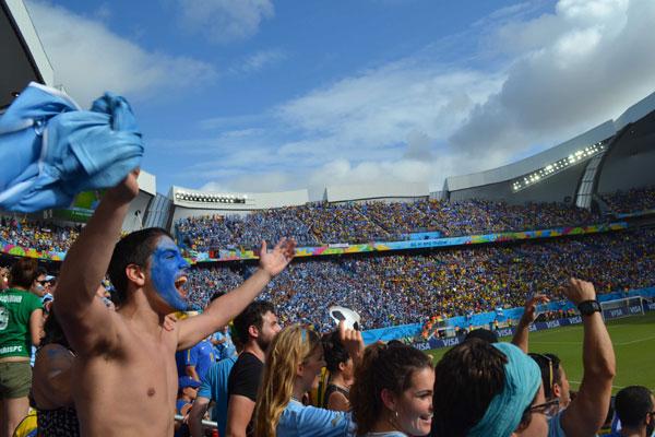 Durante a Copa do Mundo de 2014, Natal viu o confronto entre dois campeõs mundias. Uruguai e Italia empataram na Arena das Dunas, mas a emoção do jogo ficou na memória dos natalenses