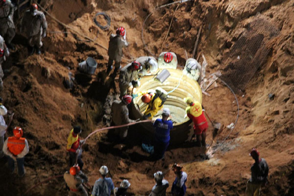 Equipes do Corpo de Bombeiros e da Defesa Civil encontraram o corpo na noite desta sexta-feira