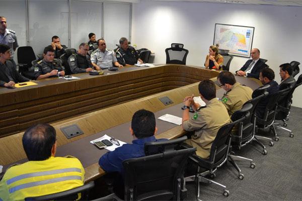 A reunião ocorreu no Gabinete de Gestão Integrada Estadual, nesta quarta-feira