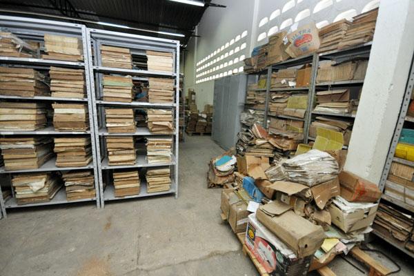 No arquivo estadual, processamento de documentos que estava sendo feito por bolsistas da UFRN foi suspenso por falta de pagamento