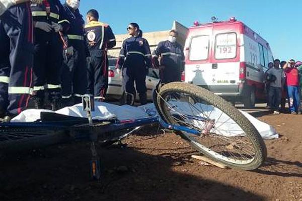Idosa e criança morreram após serem atingidas por caminhão em Mossoró