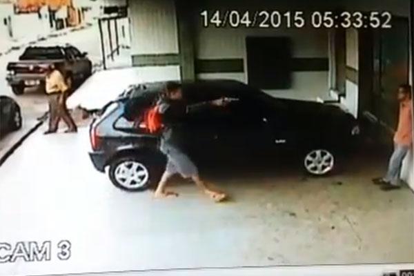 Criminoso anunciou o assalto logo no início da manhã de hoje