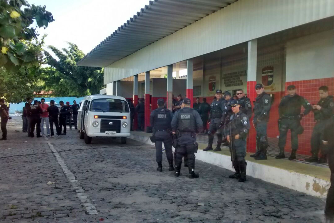 Mais de 360 policiais atuaram na operação, em Parnamirim
