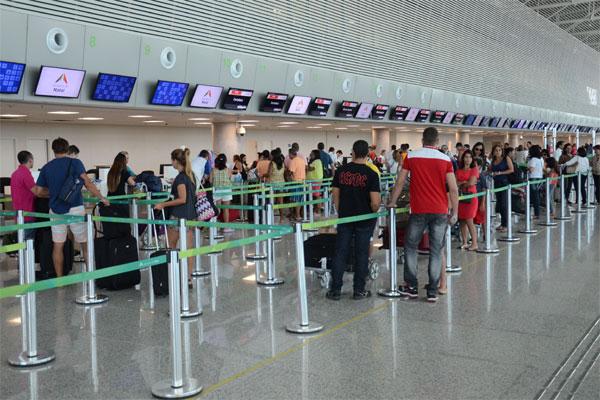 O aeroporto Governador Aluízio Alves, em São Gonçalo do Amarante, foi inaugurado em maio de 2014