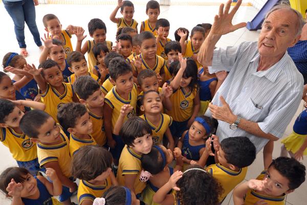 O projeto de padre Tiago possui três escolas – o Pinóquio (foto), o Bem-me-quer, em Extremoz, e o Cravina II, na localidade de Santa Luzia, em Igapó – que continuam em atividade