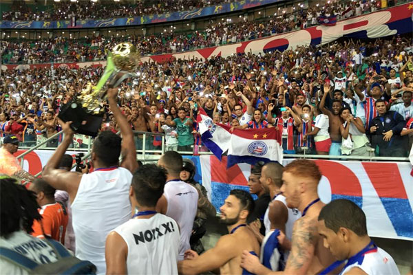 Este foi o primeiro título do Bahia na nova Arena Fonte Nova