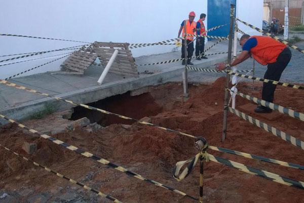 Polícia descobriu túnel ontem e revelou que estrutura foi escavada por quadrilha de assalto a bancos
