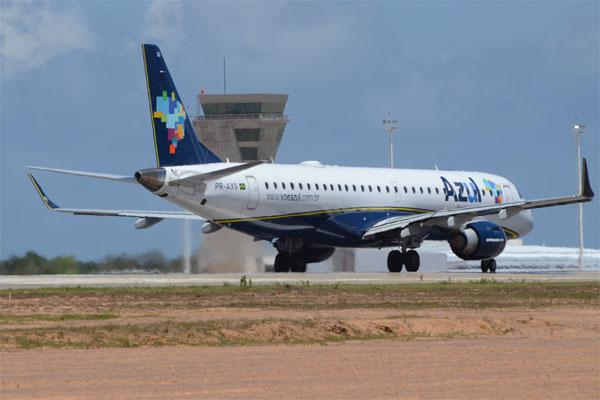 A Azul Linhas Aéreas contará com um voo circular entre Campinas, Natal e João Pessoa no período de 1º de julho a 2 de agosto
