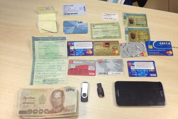 PF apreendeu cartões e documentação que estavam com colombiano