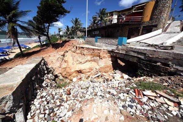 Trecho atingido por erosão começa a ser recuperado na segunda