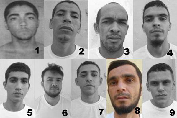 PM recaptura oito dos nove fugitivos do CDP de Parelhas