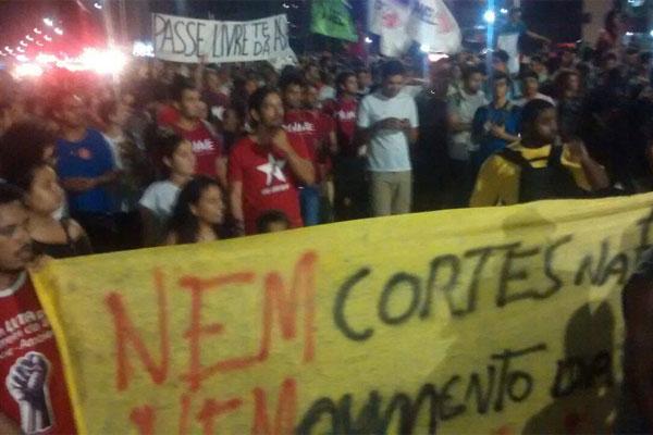 Protesto deve acontecer na avenida Senador Salgado Filho