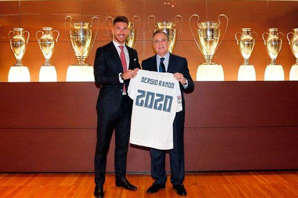 Sergio Ramos assumirá a braçadeira de capitão do Real Madrid nesta temporada