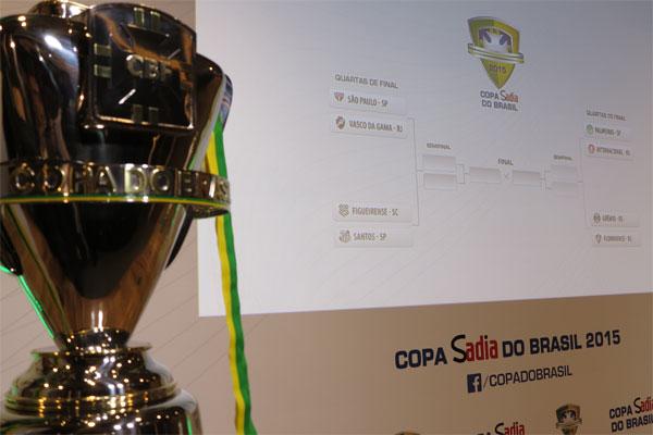 Sorteio da Copa do Brasil foi realizado no início da tarde desta segunda-feira na CBF