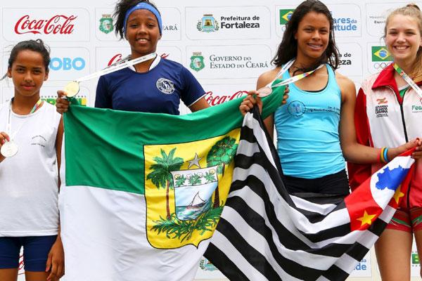Nayara Alcântara, de Goianinha, foi medalha de ouro no salto em altura e quebrou recorde sul-americano