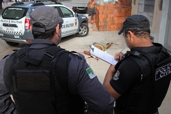 Dos 1.121 homicídios registrados este ano, 563 ocorreram nas ruas ou calçadas das cidades do RN