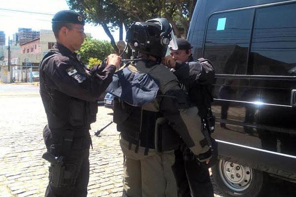 Oficiais do BOPE foram acionados para agir na situação