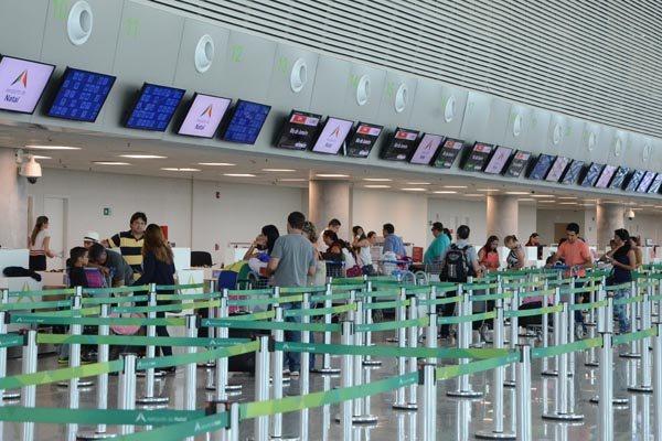 Terminal de passageiros do Aeroporto do RN: Durante o horário de verão, os voos terão suas chegadas e partidas antecipadas