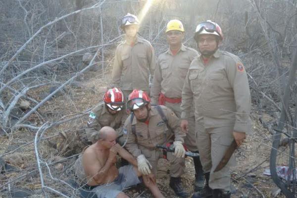 Corpo de Bombeiros resgatou homem em área do Pico do Cabugi
