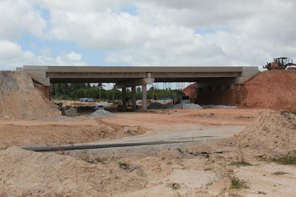 Obras do acesso norte estão em fase avançada para conclusão