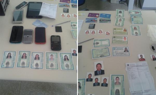 Polícia apreendeu vários documentos com a quadrilha durante a Operação 171