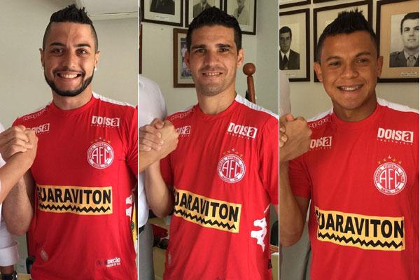 Camilo, Neto Potiguar e Gabriel são reforços do alvirrubro para a próxima temporada