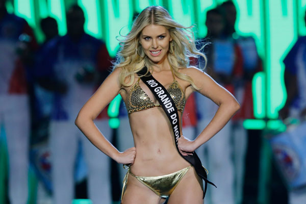 A Miss RN, Manoella Alves, ficou entre as cinco mulheres mais bonitas do concurso