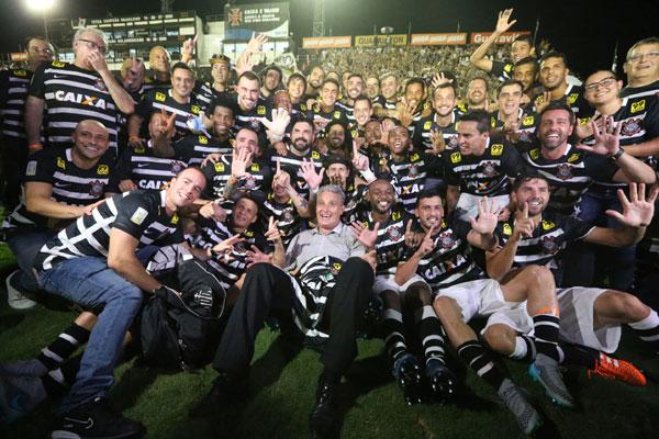 Mesmo com o placar de 1x1 contra o Vasco, paulistas foram beneficiados com a derrota do Atlético/MG para o São Paulo e conquistaram o hexacampeonato