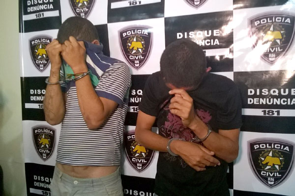 Suspeitos foram apresentados pela Polícia Civil