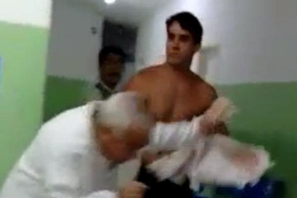Homem identificado como Guilherme agrediu o médico de plantão de Tibau do Sul