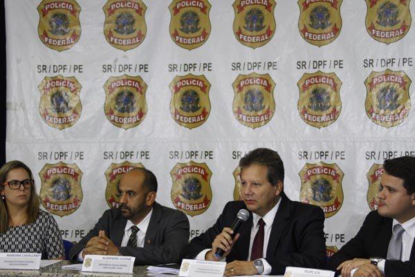 Delegados da Polícia Federal apresentam os resultados da Operação Vidas Secas