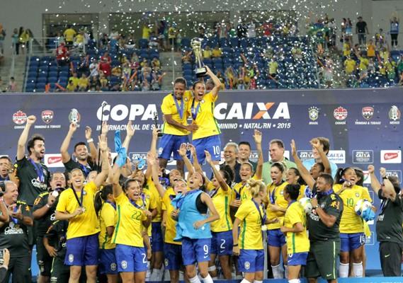 A seleção conquistou o hexa no Torneio Internacional de Futebol Feminino, em Natal