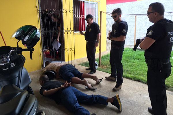 Policiais realizaram a prisão em flagrante do suspeito de fraudes