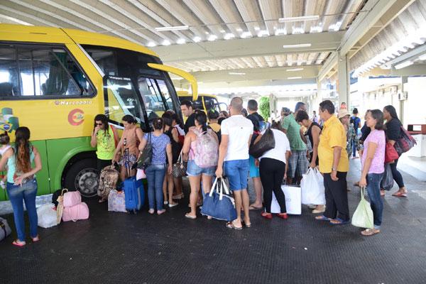 No Terminal Rodoviário da Cidade da Esperança as empresas colocaram 180 horários extras para o interior e os estados vizinhos