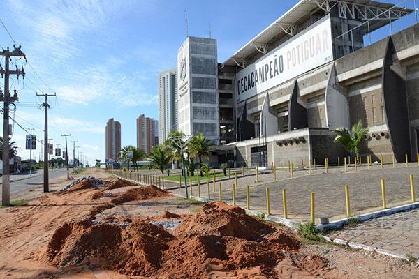 Acordo que negociou várias ações trabalhistas do ABC deu como garantia a penhora do Frasqueirão; estádio foi avaliado por oficial de justiça
