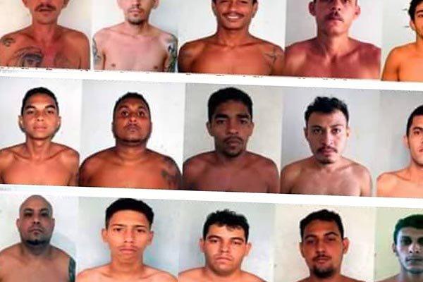 Quadro de foragidos da Penitenciária Agrícola Dr. Mário Negócio, em Mossoró