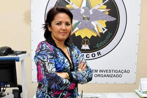 A delegada Sheila Maria Freitas assume o cargo de diretora de Polícia Civil da Grande Natal