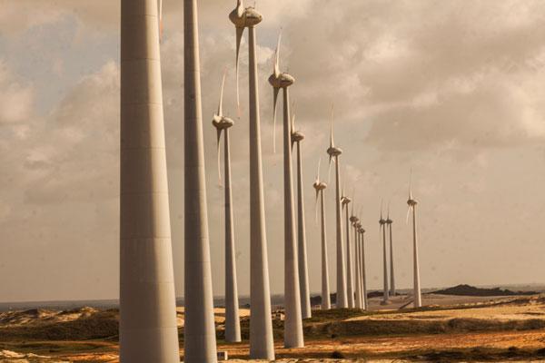 Parque eólico no RN: Estado lidera geração dessa energia no país