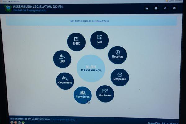 Novo Portal de Transparência do Legislativo potiguar foi lançado há 15 dias e trouxe o detalhamento da folha de pessoal