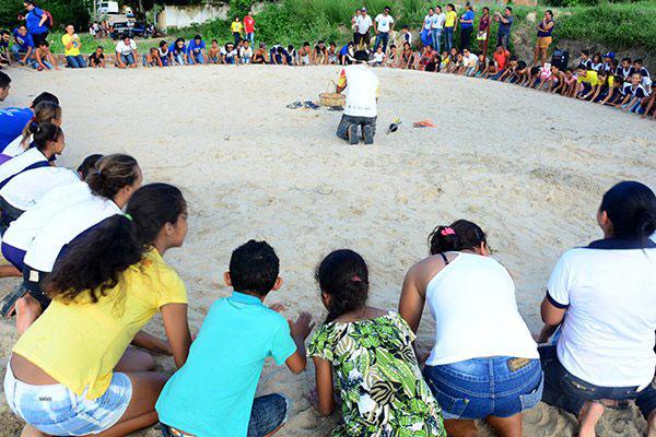 Com 59 estudantes matriculados, a Escola Municipal João Lino faz intercâmbio da cultura indígena