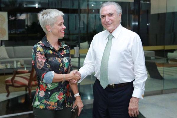 Resultado de imagem para Temer com Cristiane Brasil e Brasilia