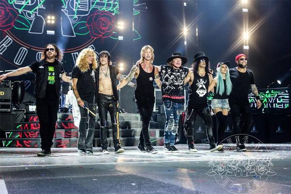 Última participação do Guns N