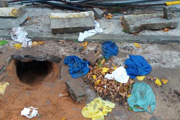 Presos cavaram túnel em um dos banheiros do CDP