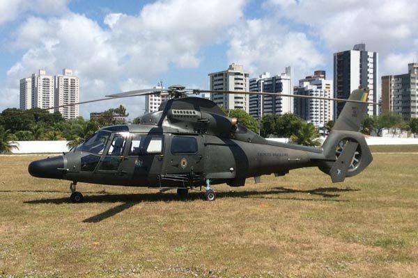 Aeronave do Comando de Aviação do Exército (Taubaté/SP) chegou em Natal na última terça-feira