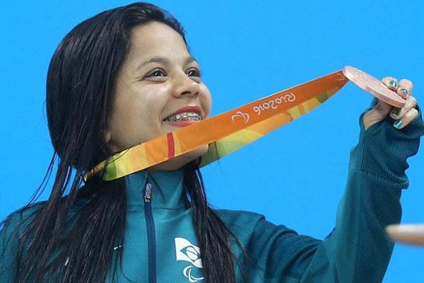 Joana Neves, a Joaninha, faturou duas medalhas de prata e uma de bronze no Rio