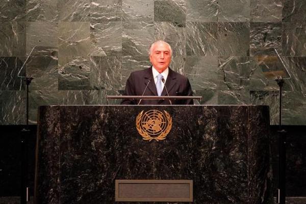 Michel Temer fez discurso de abertura da Assembleia Geral das Nações Unidas