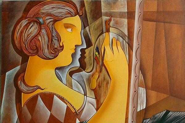 Telúricas, maternidade e arlequins são temáticas da obra de Peny