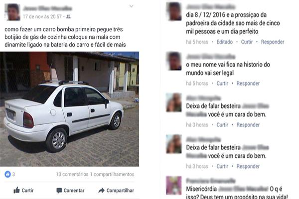Homem foi preso após ameaçar realizar um atentado durante procissão da padroeira de Macaíba