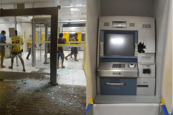 Bandidos arrombaram a agência do Banco do Brasil e do banco Bradesco de Baraúna